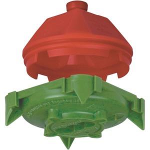 Deckendose 45° Auslassöffnung Ø 35 mm mit Metallmutter M5 Tiefe 55 mm