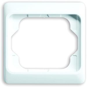 Abdeckrahmen alpha 1-fach weiß glänzend