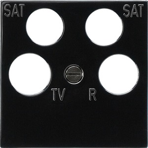 Zentralplatte 4-fach fuba ECG Astro Zubehör schwarz