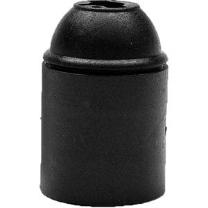 Lampenfassung 110/04 Kunststoff E27 Fassung glatt schwarz
