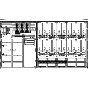 Kabel-Hausanschluss-Zählerverteiler Freistehend 1905x1080x322mm