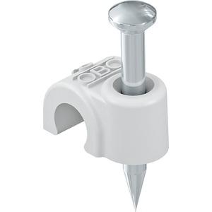 OBO ISO-Nagel-Clip 14mm L40 PP lichtgrau RAL 7035