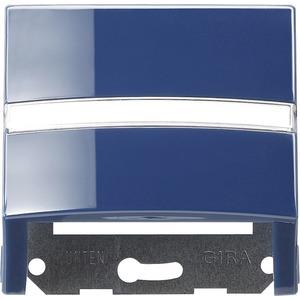 Datenhaube beschriftbar mit Tragring für S-Color blau