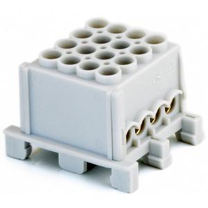 Hauptleiteranschlussklemme 1-pol. 4x 25mm² + 4x 16mm² berührungssicher grau