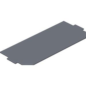 Leerplatzabdeckung 208x76mm PVC graphitschwarz RAL 9011