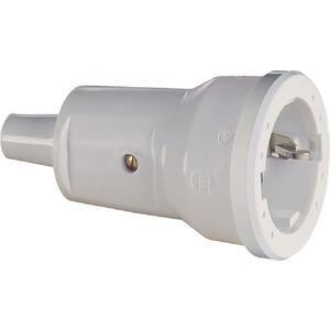 SCHUKO-Kupplung PVC grau
