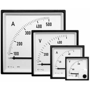 Voltmeter 0-250V AC 72x72mm