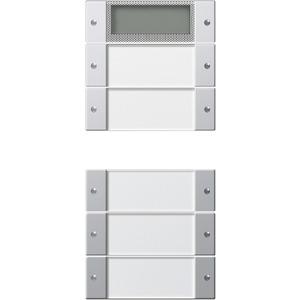 Wippenset 5-fach Plus beschriftbar für E22 Klar/Aluminium