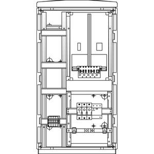 Kabel-Hausanschluss-Zählerverteiler Freistehend 440x836x322mm