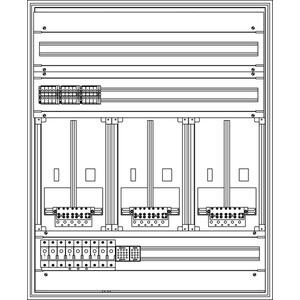Kunststoff-Zählerverteiler 800x979x225 mm
