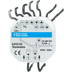 EB-Geräte Jalousiecontrol-Trennrelais 2-fach Gleichstromantriebe