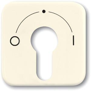 Abdeckung für Unterputz Schlüsselschalter cremeweiß glänzend