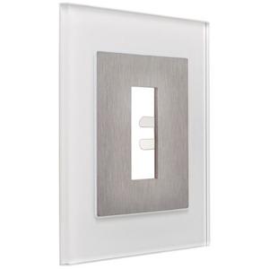 Rahmen Unterputz Glas weiß für Fingerscanner UP E