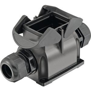 Sockelgehäuse mit integrierter Kabelverschraubung 6 B Han-Eco M32 2x