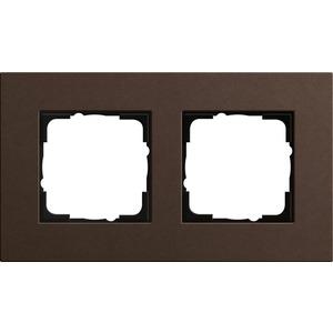2-fach Abdeckrahmen für Esprit Linoleum-Multiplex Dbraun
