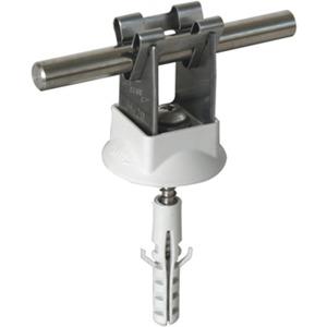 Leitungshalter DEHNgrip NIRO Ø 8mm Bauhöhe: 20 mm + Schraube