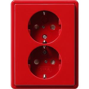Doppel-SCHUKO KS für S-Color rot