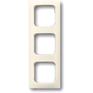 Abdeckrahmen 3-fach Linear-102 cremeweiß glänzend