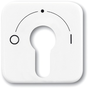 Abdeckung für Unterputz Schlüsselschalter weiß glänzend