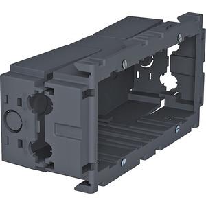 Geräteeinbaudose 2-fach 160x76x51 PA eisengrau RAL 7011