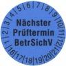 Prüfetiketten 15 mm BLAU - VPE = 250 Stück