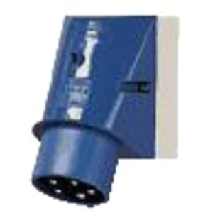 Wandstecker 16A 5-polig 9h 230V IP44