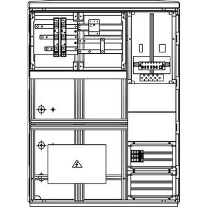 Kabel-Hausanschluss-Zählerverteiler Freistehend 785x1065x322mm