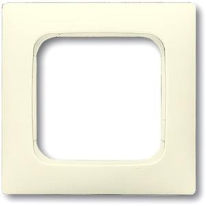 Abdeckrahmen 1-fach Linear-102 cremeweiß glänzend