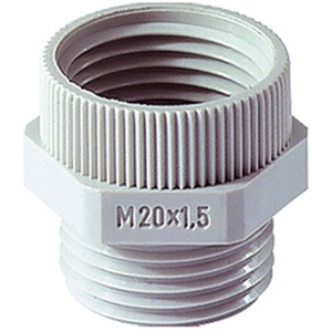 Übergangsstück PG11M16PA PG11 auf M16X1,5 Polyamid hellgrau