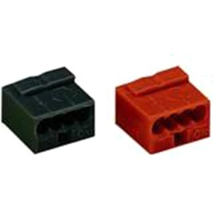 Wago MICRO-Verbindungsdosenklemme 4-Leiter-Klemme 4-polig rot