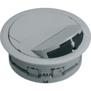 Leitungsauslass mit Flachketten-Anbindung <20mm aus PA lichtgrau