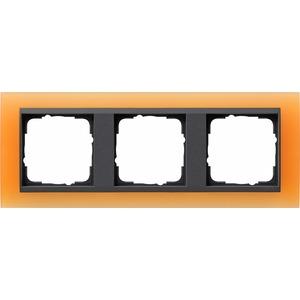3-fach Abdeckrahmen für anthrazit Event Opak orange