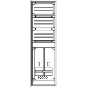 Kunststoff-Zählerverteiler 300x979x225 mm