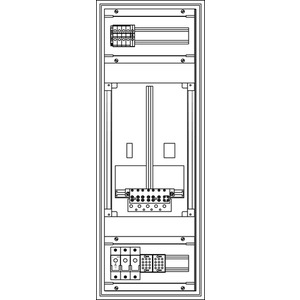 Kunststoff-Zählerverteiler 300x829x225 mm