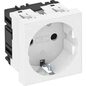 Steckdose 0° 1-fach Schutzkontakt 250V 10/16A PC signalrot