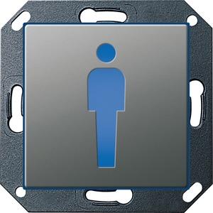 Orientierungsleuchte LED WC Herren für E22 Edelstahl