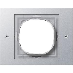1-fach Abdeckrahmen für TX_44 (WG UP) Farbe Aluminium