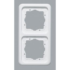 Abdeckrahmen 2-fach ultraWeiß waag/senkr. Montage 151,5 x 80,5 mm