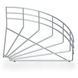 Gitterrinnenbogen 90° 105x500 mm Stahl galvanisch verzinkt