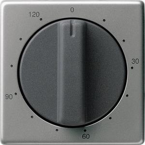 Abdeckung Zeitschalter 120 Min. für E22 Edelstahl