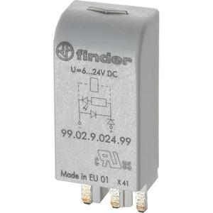 Steckmodul grüne LED und Varistor 110 - 230 V AC/DC grau Serie 99