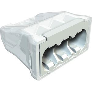 Steckklemme schraubenlose Klemme 3x2,5mm² PA lichtgrau RAL 7035