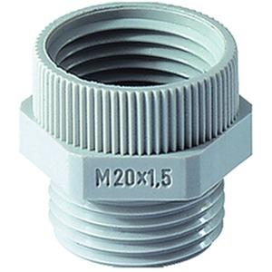 Übergangsstück PG9M16PA PG9 auf M16 X1,5 Polyamid hellgrau