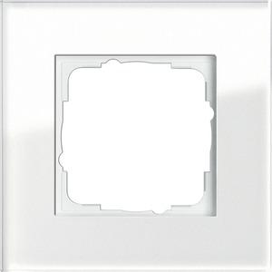 1-fach Abdeckrahmen für Esprit Glas weiß