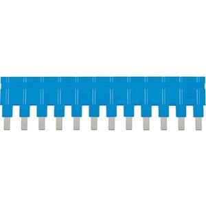 Steckbrücke längs 1x12 blau 16A