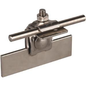 Falzklemme mit vergrößerter Anschlussfläche NIRO Rd. 6-10 mm