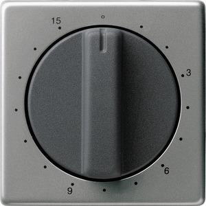 Abdeckung Zeitschalter 15 Min. für E22 Edelstahl