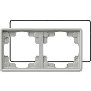 2-fach Abdeckrahmen IP21 für S-Color grau