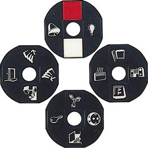 Set mit 2x4 Piktogrammscheiben