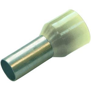 Aderendhülse isoliert 10 mm² - L 12 mm elfenbein